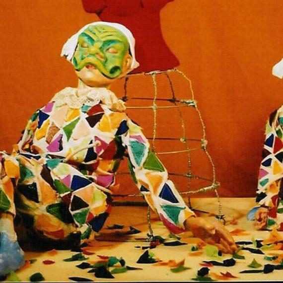 Κούκλες από την παράσταση ο Αρλεκίνος